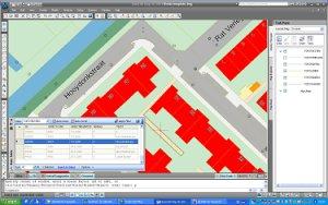AutoCAD Map gebruikt de dg DIALOG Topografie basiskaart vanuit Oracle Spatial